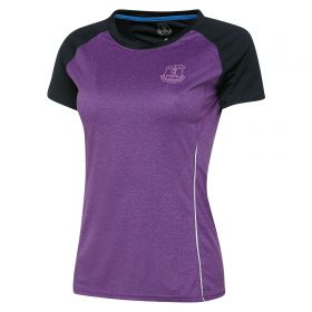Everton Sport Poly T-Shirt - Purple/Reflective - Womens