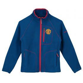 Manchester United Columbia Fast Trek II Fleece Jacket - Marine Blue - Junior