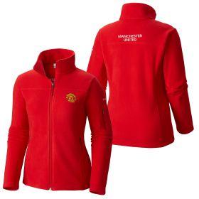 Manchester United Columbia Fast Trek II Full Zip Fleece Jacket - Red - Womens