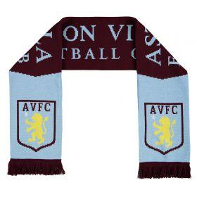 Aston Villa Jacquard Scarf -Bugundy Fringe