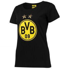 BVB Large Crest T-Shirt - Black - Womens