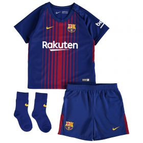 Barcelona Home Stadium Kit 2017/18 - Infants with Coutinho TBC printing