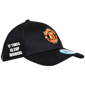Manchester United New Era FA Cup Winners Basic 9FORTY Adjustable Cap - Black - Kids