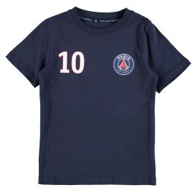 Paris Saint-Germain Neymar Jr Player T-Shirt - Navy - Junior