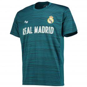 Real Madrid Polyester Training T-Shirt - Green - Junior