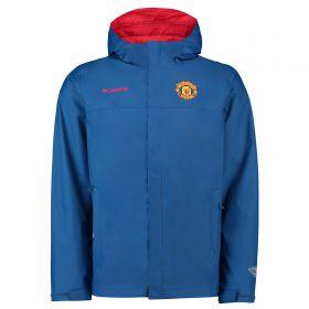 Manchester United Columbia Watertight II Jacket - Marine Blue - Mens