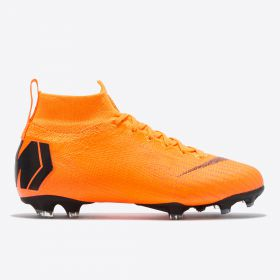 Nike Mercurial Superfly 6 Elite Firm Ground Football Boots - Orange - Kids