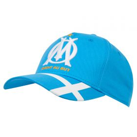 Olympique de Marseille Cross Stripe Printed Cap - Sky- Mens