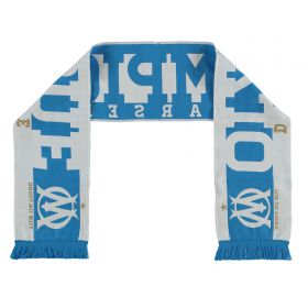 Olympique de Marseille Fan Scarf - White - Adult