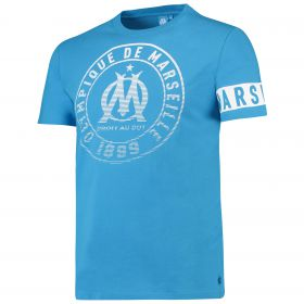 Olympique de Marseille Graphic Arm Band T-Shirt - Blue - Mens