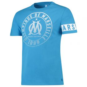 Olympique de Marseille Graphic Arm Band T-Shirt - Sky - Boys