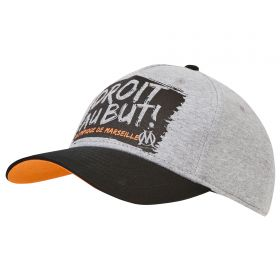 Olympique de Marseille Graphic Cap - Grey/Black - Boys
