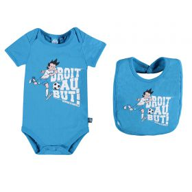 Olympique de Marseille Printed Graphic Body & Bib Set - Sky - Baby