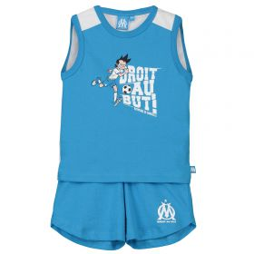 Olympique de Marseille Printed Graphic Vest & Short Set - Sky - Baby