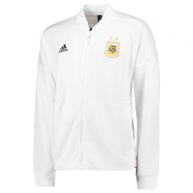 Argentina ZNE Knitted Anthem Jacket - White