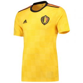 Belgium Away Shirt 2018 with De Bruyne 7 printing
