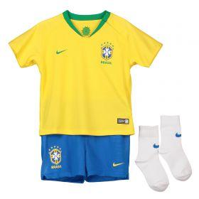 Brazil Home Stadium Kit 2018 - Little Kids