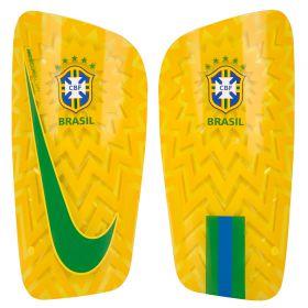 Brazil Mercurial Lite Shinguards - Gold