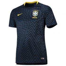 Brazil Squad Graphic Training Top - Navy