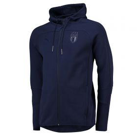 Italy Azzurri Full Zip Hoodie - Navy