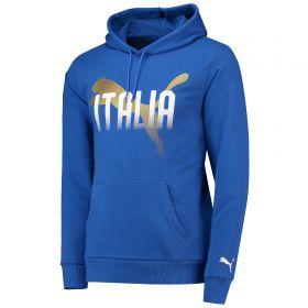 Italy Fan Hoodie - Blue