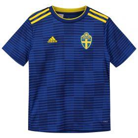 Sweden Away Shirt 2018 - Kids with Larsson 11 printing
