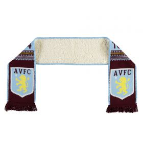 Aston Villa Fleece Backed Scarf