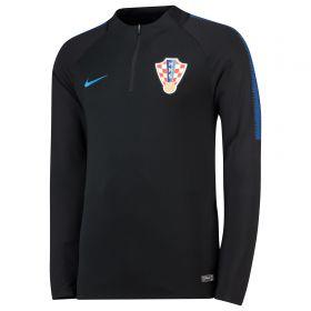 Croatia Squad Drill Top - Black
