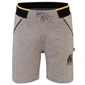 Olympique de Marseille Drawstring Sweat Short - Grey - Mens