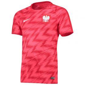 Poland Squad Graphic Training Top - Red
