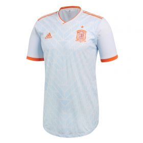 Spain Authentic Away Shirt 2018 with A.Iniesta 6 printing