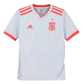 Spain Away Shirt 2018 - Kids with Xavi 8 printing