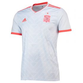 Spain Away Shirt 2018 with A.Iniesta 6 printing