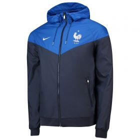 France Authentic Woven Windrunner Jacket - Navy