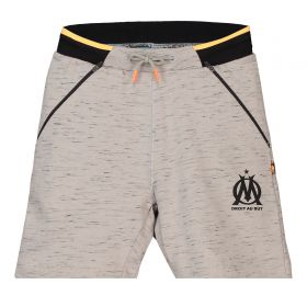 Olympique de Marseille Sweat Shorts With Crest - Grey - Boys