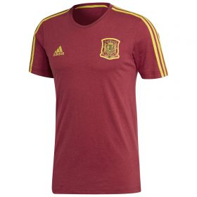 Spain 3 Stripe T-Shirt - Burgundy