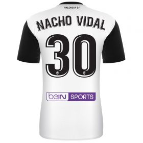 Valencia CF Home Shirt 2017-18 - Kids with Nacho Vidal 30 printing