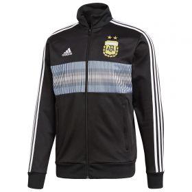 Argentina 3 Stripe Track Top - Black