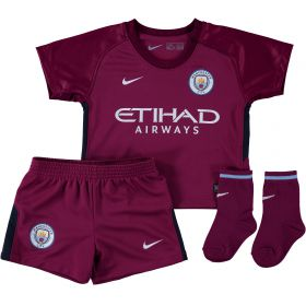 Manchester City Away Stadium Kit 2017-18 - Infants with Champions 18 printing
