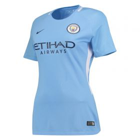 Manchester City Home Stadium Shirt 2017-18 - Womens with Champions 18 printing