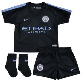 Manchester City Third Stadium Kit 2017-18 - Infants with Champions 18 printing