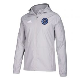 New York City FC Rain Jacket - Lt Grey