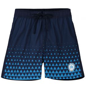 Olympique de Marseille Colour Fade Swim Shorts- Navy- Boys