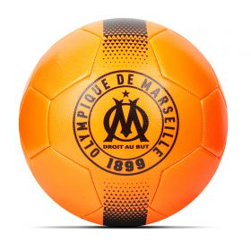 Olympique de Marseille Crest Football - Orange - Size 5