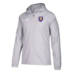 Orlando City SC Rain Jacket - Lt Grey
