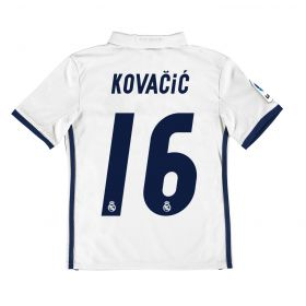 Real Madrid Home Jersey 2016/17 - Kids - with Kovacic 16 printing