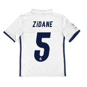 Real Madrid Home Jersey 2016/17 - Kids - with Zidane 5 printing