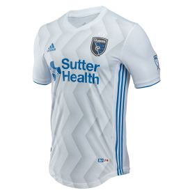 San Jose Earthquakes Authentic Away Shirt 2018 with Hyka 10 printing