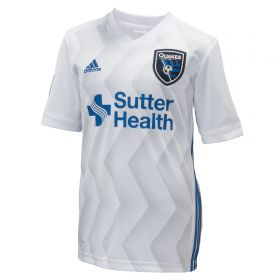San Jose Earthquakes Away Shirt 2018 - Kids with Hyka 10 printing