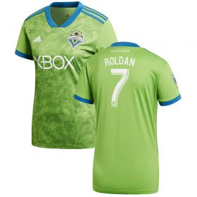 Seattle Sounders Home Shirt 2018 - Womens with Roldan 7 printing